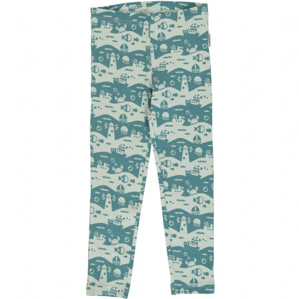 Maxomorra Leggings Ocean Landscape
